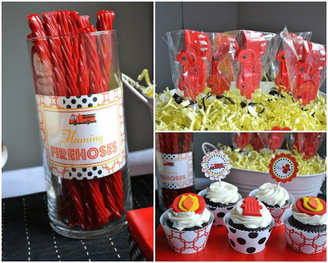 Firefighter Birthday Party Treats!