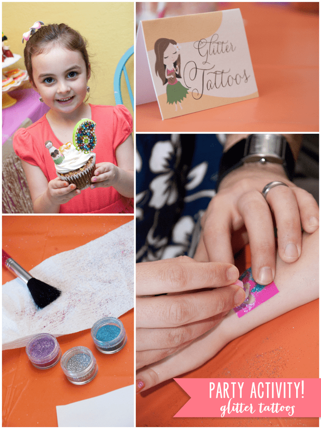 Fun Party Activity! Glitter Tattoos!