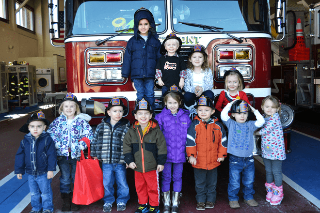 Kids Birthday Party at a Fire Station