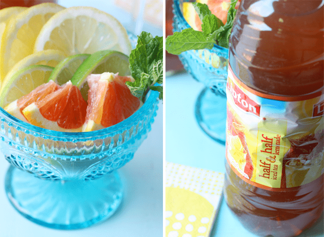 How to make citrus tea sangria that's super delish!