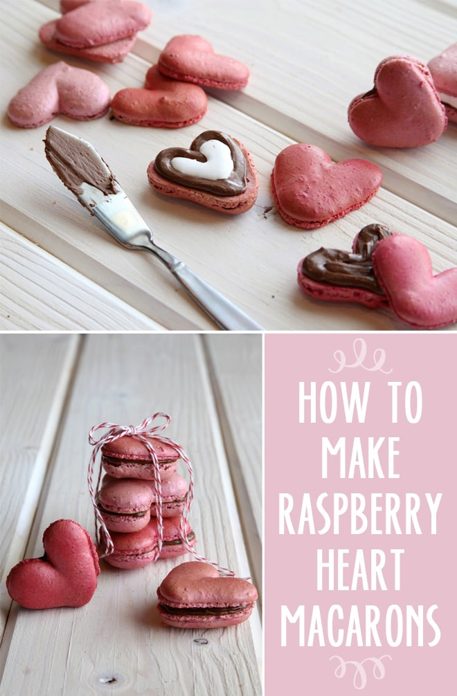 How to Make Raspberry S'more Filled Heart Macarons