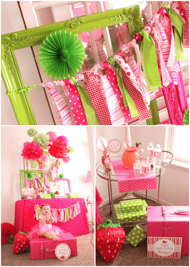 Strawberry Party Tables & Backdrops!