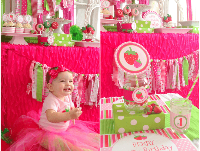 Darling Strawberry-Themed Birthday Party!