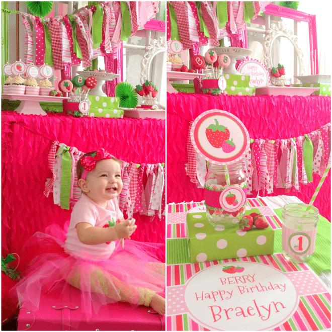 Strawberry 1st Birthday Party!