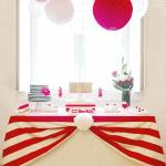 Red & White Striped Valentine's Day Birthday Party!