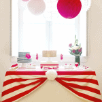 Red & White Striped Valentine's Day Birthday Party!