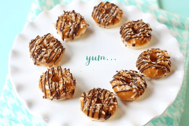 How to make Samoa mini doughnuts - baked!