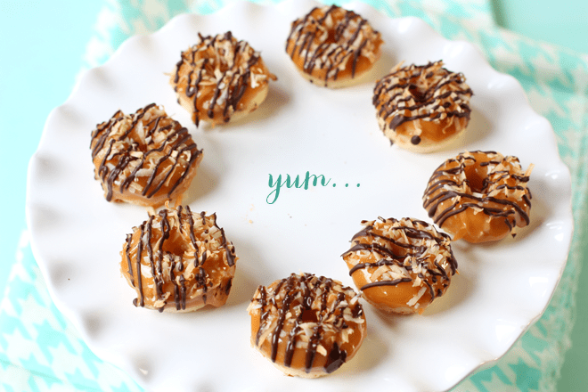 How to make Samoa mini doughnuts - baked!