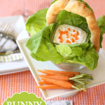 Easter Bunny Carrot Dip in a Bread Basket!