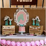 Pink and Aqua Cowgirl Themed Birthday Party!