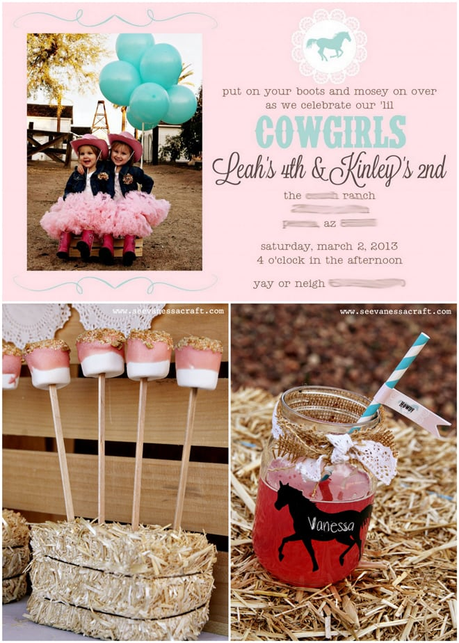 Pink and Aqua Cowgirl Birthday Party!