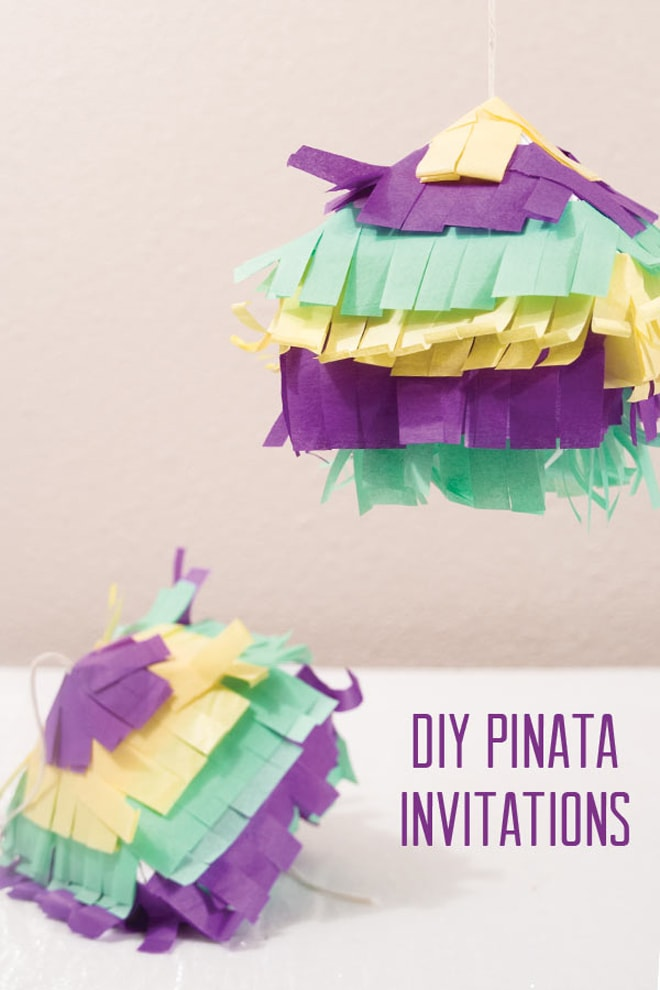 DIY Piñata Party Invitation!
