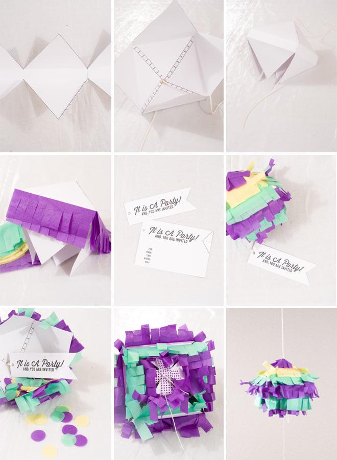 How to make a DIY Pinata Invitation!
