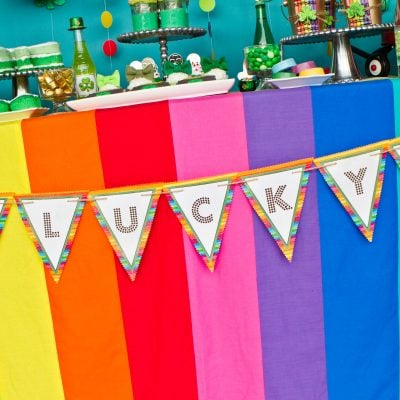 rainbow themed st. patrick's day party