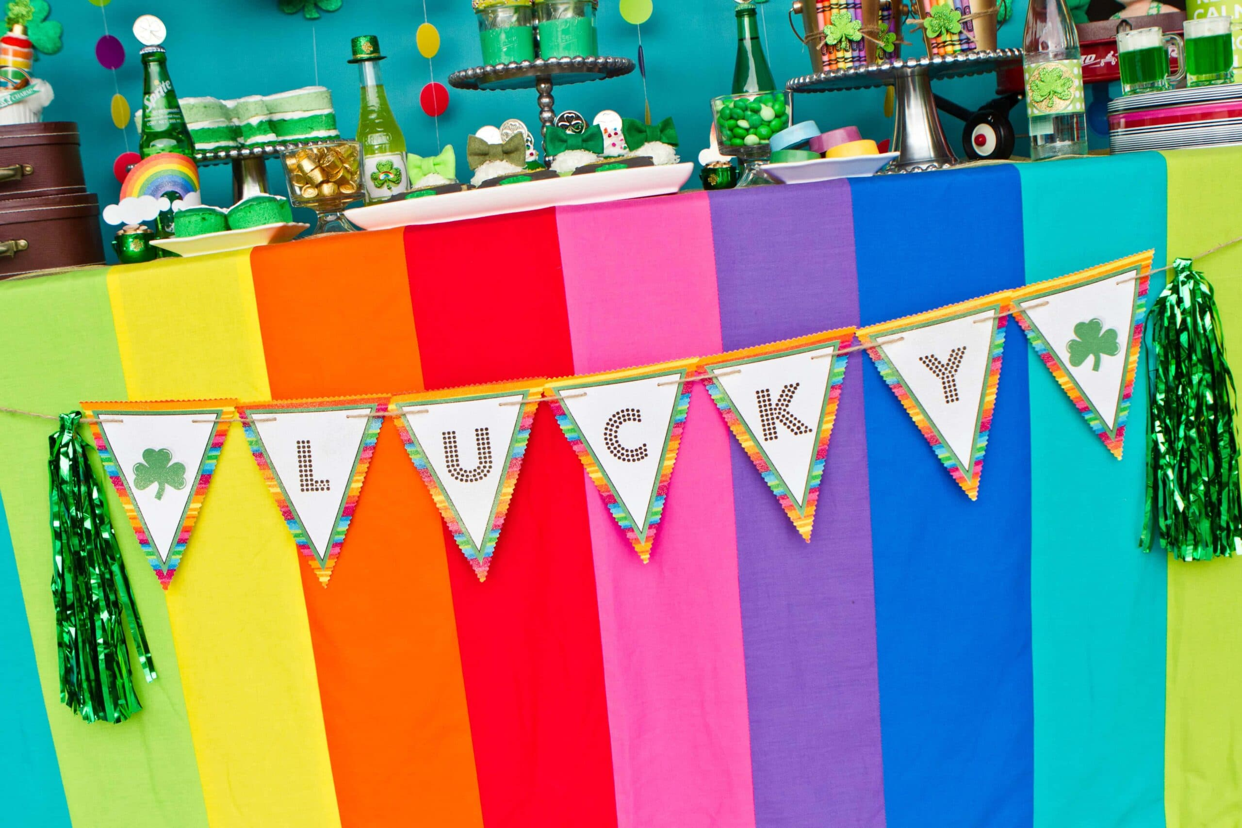 """St. Patrick's Day """"Pot of Gold"""" Rainbow Party!"""