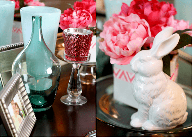 Spring Easter Entryway Decor