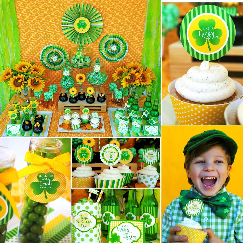 St. Patrick's Day Dessert Party! (+ Free Printables)
