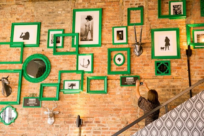 Green Gallery Wall