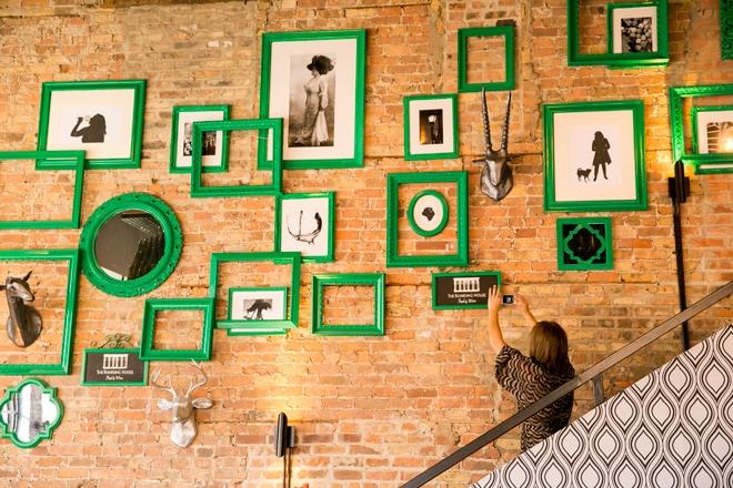 Green Gallery Wall