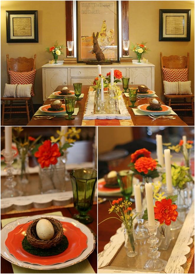 Orange Easter Tablescape