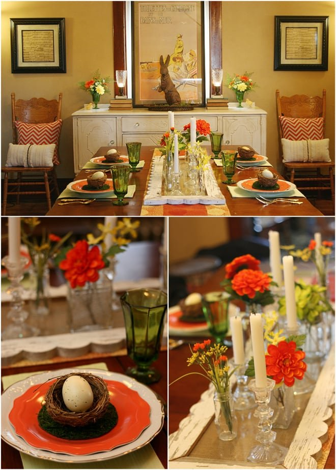 Orange Easter Tablescape