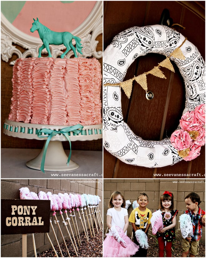 Pink and Aqua Cowgirl Birthday!
