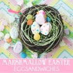"Make cute Easter ""Egg""Sandwiches with Marshmallows!"