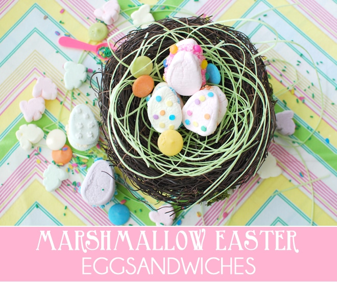 """Make cute Easter """"Egg""""Sandwiches with Marshmallows!"""