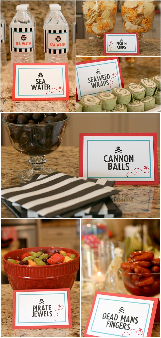 Food to serve at a Pirate Birthday Party!