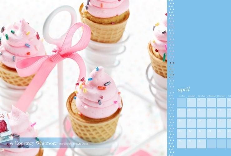 Free April Desktop Calendar   Frostings Book!