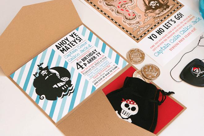 {Part 1of 2} Pirate Birthday Box Invitations!