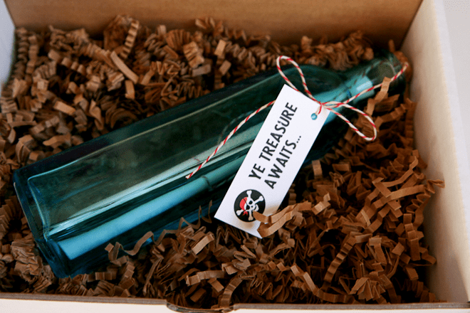 Message in a Bottle for Pirate Party!