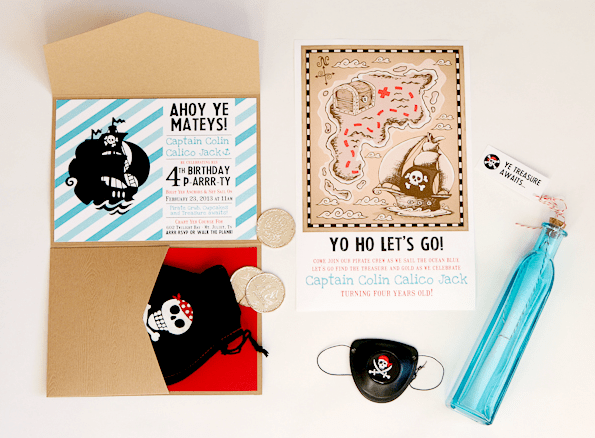 Ahoy! Adorable Pirate Party Invitation Boxes!