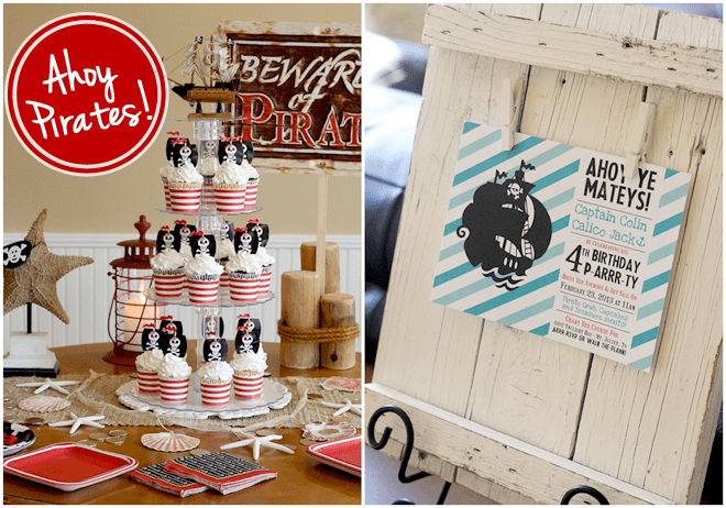Ahoy Mateys! It's a 4th Birthday, PIRATE style!