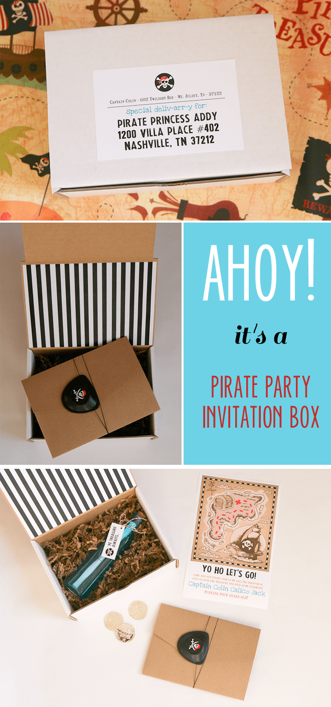 Send out an INVITATION BOX! Pirate Party!