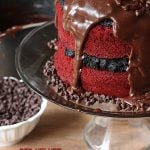 Red Velvet Oreo Truffle Fudge Cake by pizzazzerie.com