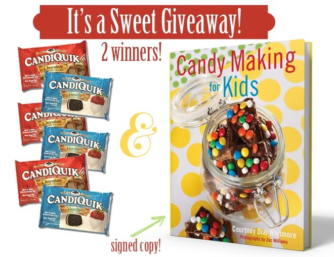 Win a signed copy of @Pizzazzerie's Candy Making For Kids & @CandiQuik