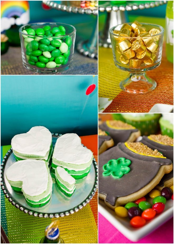 Gold at the end of the RAINBOW St. Patrick's Day Party on Pizzazzerie!