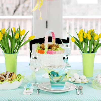 Easter Sunday Tablescape Brunch