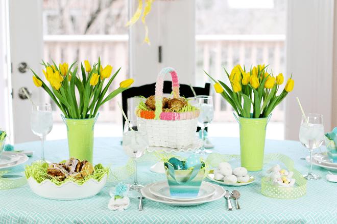 Easter Sunday Tablescape Brunch