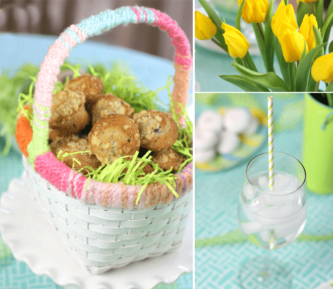 Easter Brunch - Simple Centerpiece!