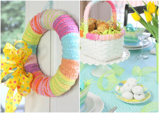 Easter Wreath + Sunday Brunch!