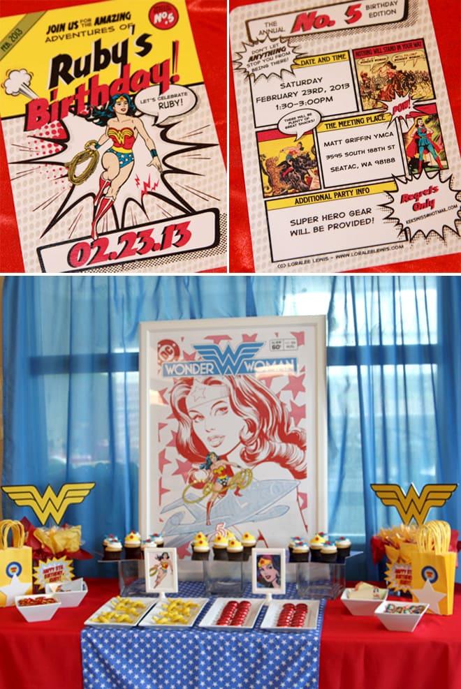 Wonder Woman Superhero Birthday Party!