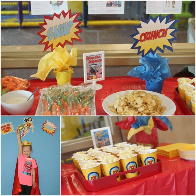 Awesome Wonder Woman Birthday Party Pizzazzerie