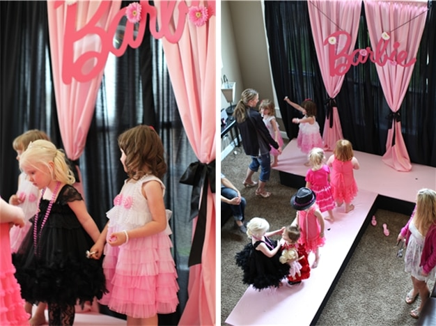 "A Barbie Party that will have you totally ""WOW'd"" from glamour make-up stations to a real-live runway for the party girls!"