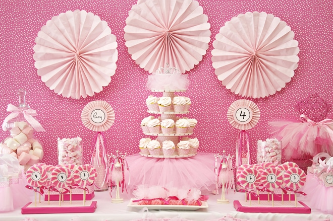 Pink Ballerina Party on pizzazzerie.com #ballerina #party
