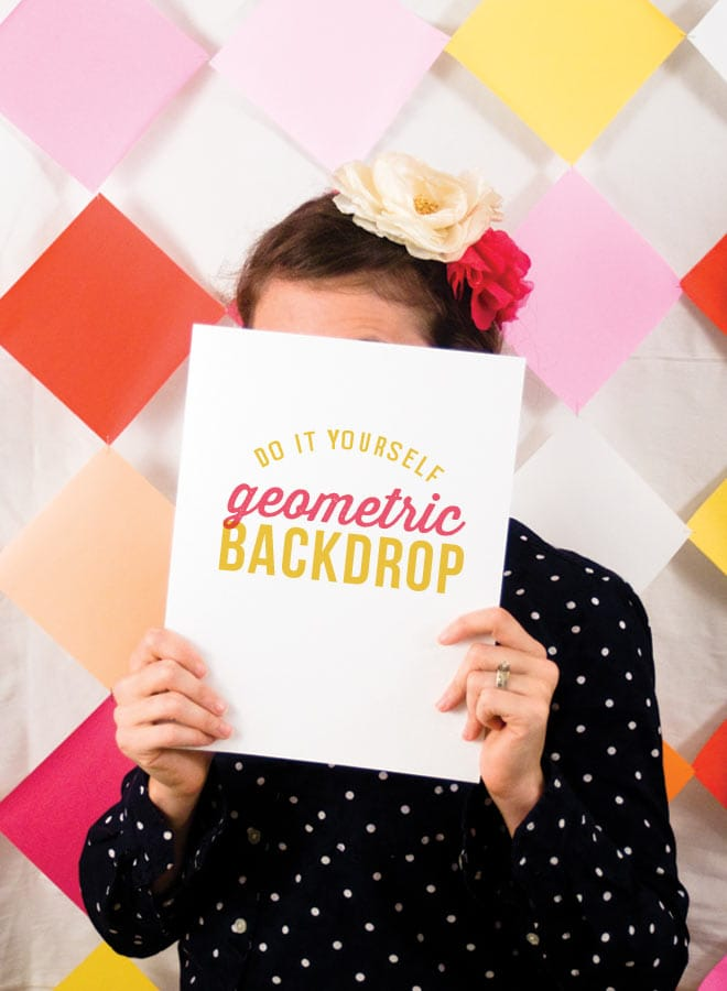 DIY Geometric Backdrop perfect for parties + photo booths! #diy on Pizzazzerie.com