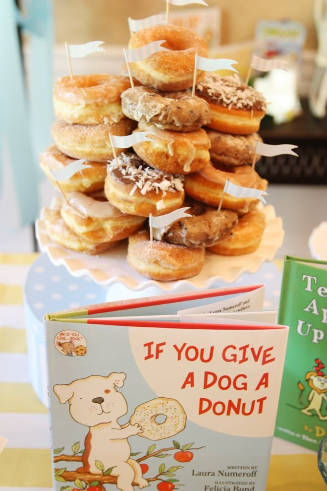 If You Give a Dog A Donut Baby Shower Cake