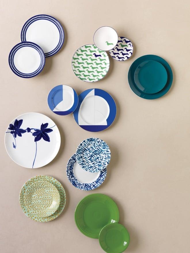 Cool Blue Plates