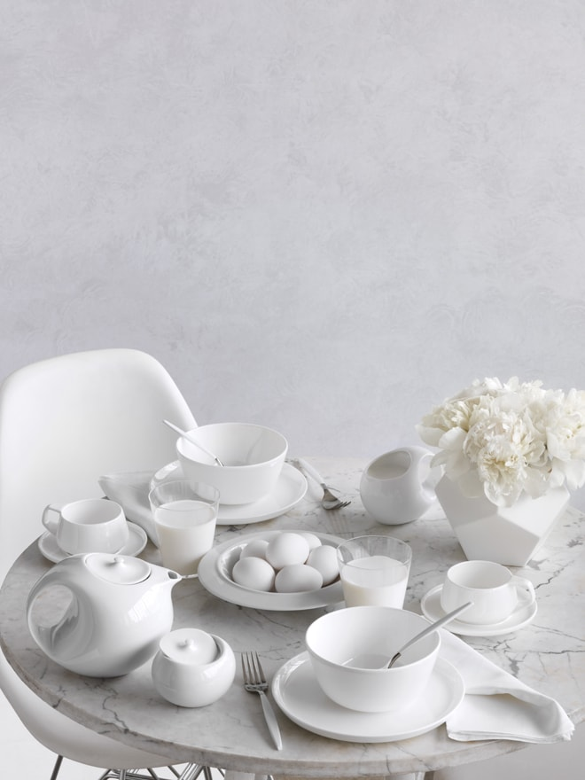 Minimalist White Modern Table